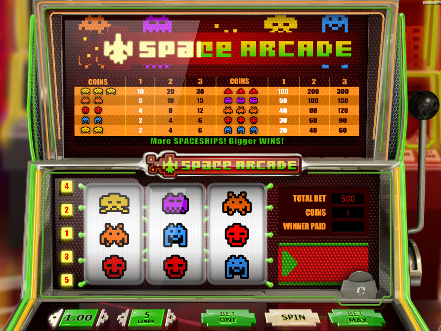 Space Arcade Slots Review & Free Instant Play Casino Game