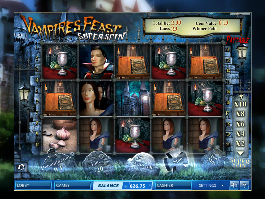 Vampires Feast Slot Machine - Play it Now for Free